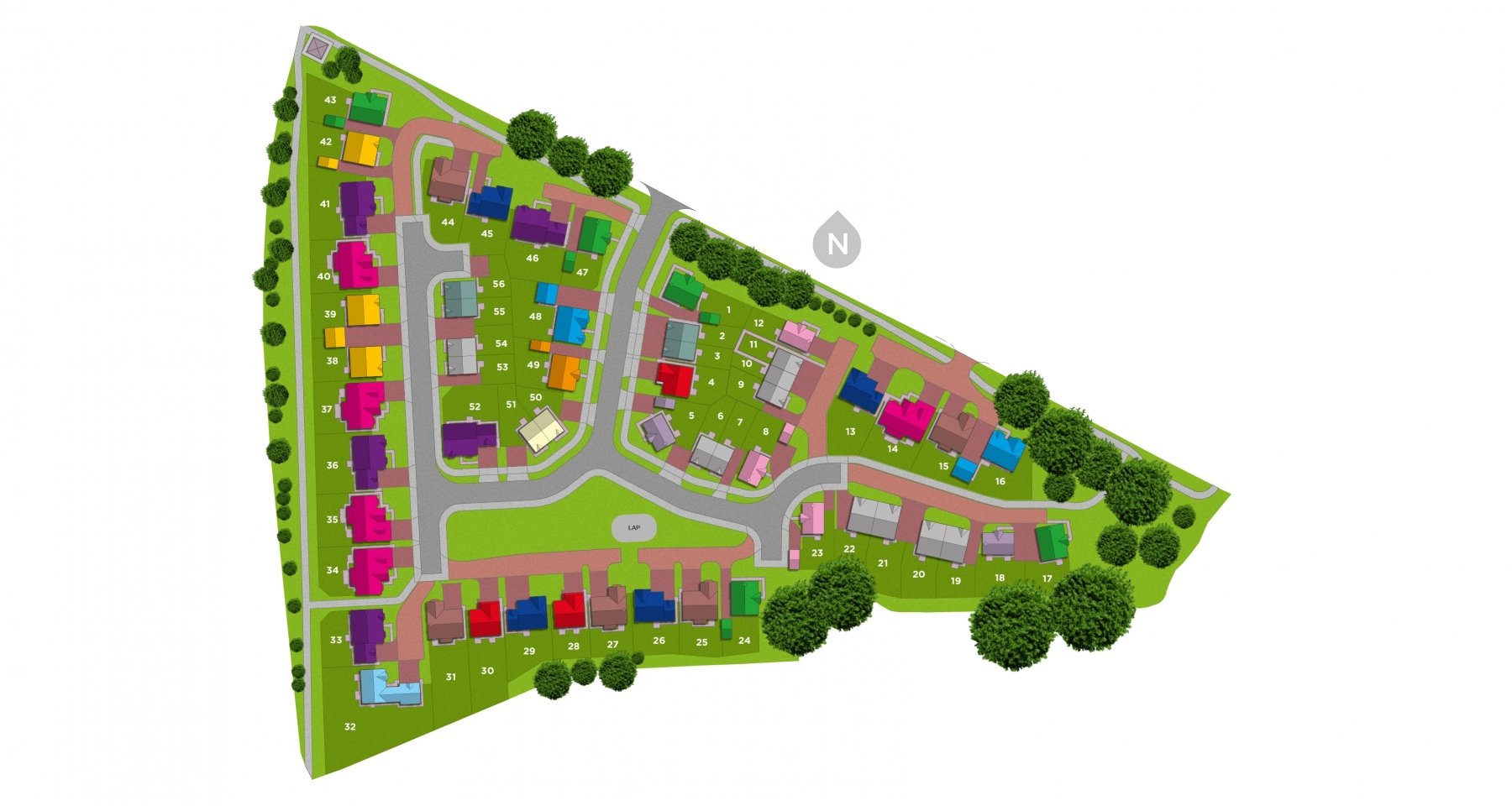 Kinnerton Meadows Site Plan